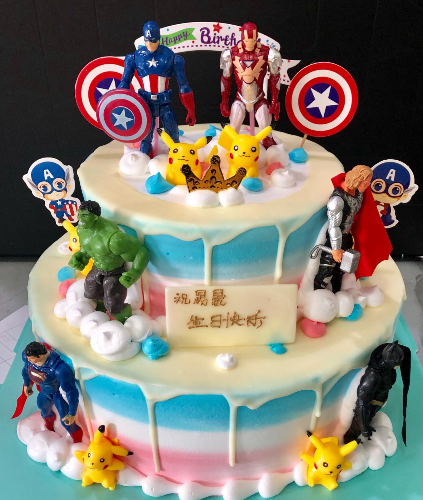 Awesome Shanghai Birthday Cake Full Moon 100Th Banquet Captain America Funny Birthday Cards Online Drosicarndamsfinfo