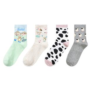 【买一送四】焦糖玛琪朵棉袜10双