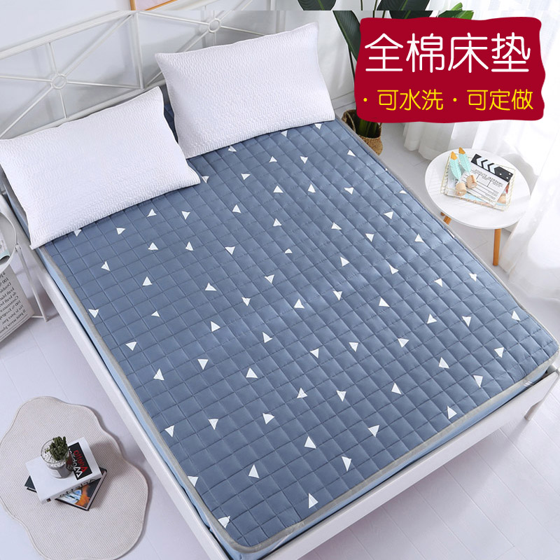 Nệm bông cho trẻ em Giường Mat Mat Giặt Mat Chăn 1,8m Giường 2 mét Giường đôi nệm mỏng Phần sau - Nệm
