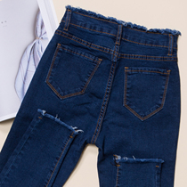 Slim Jeans female pencil pants up and down autumn high elasticity small short feet