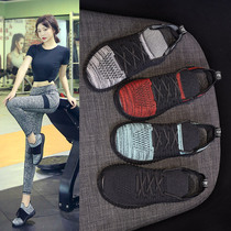 Breathable indoor training shoes soft bottom yoga skipping bike fitness shoes