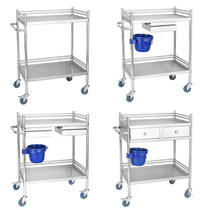 Stainless Steel equipment Trolley Hospital small trolley surgical vehicle instrument vehicle