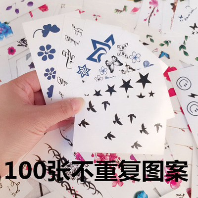 100 different patterns Korean wild simple and durable waterproof summer fashion female tattoo stickers
