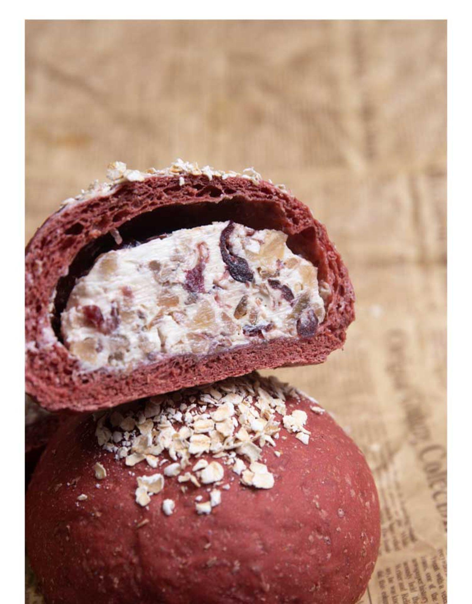 全麦欧包红丝绒乳酪杂粮早餐代餐无糖无油饱腹健身零食面包详细照片