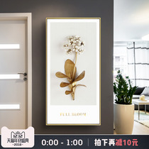 Gold decorative painting into the Xuan Guan mural simple American hanging painting light luxury painting