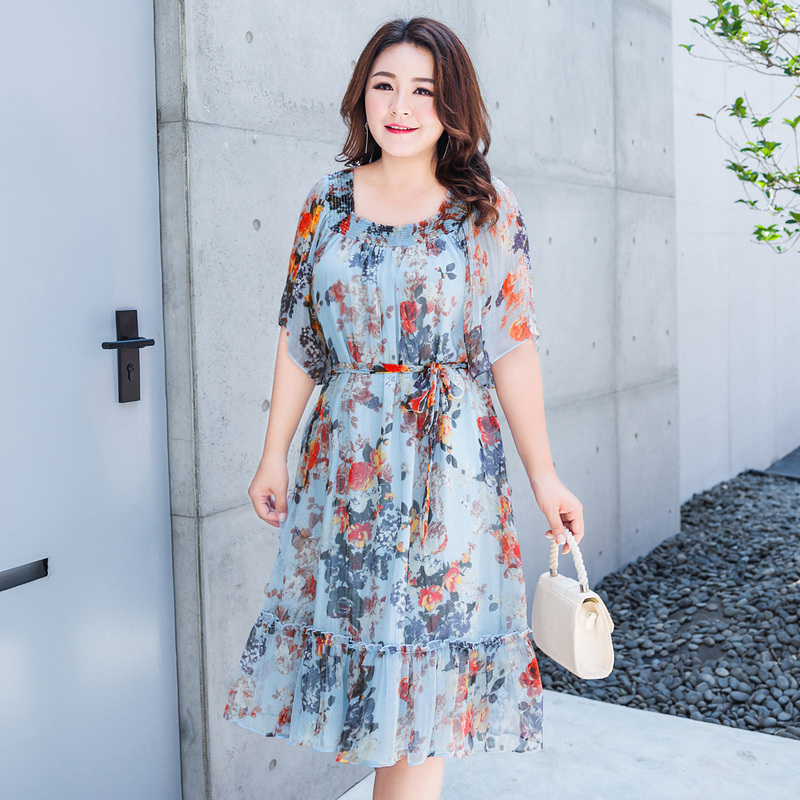 USD 76.17] (Clearance 120 yuan) plus size women\'s summer dress two ...