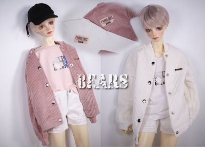 taobao agent ◆Bears◆BJD baby clothes A270 corduroy printed baseball shirt~2 colors 1/4&1/3&Uncle
