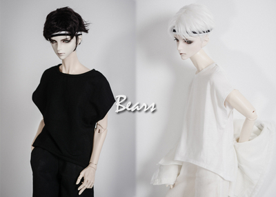 taobao agent ◆Bears◆BJD baby clothes A221 short front and back long fake sleeve T-shirt~2 colors On sale! 1/4&1/3&Uncle
