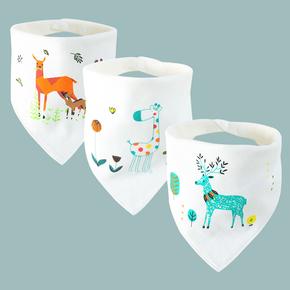 买一送一5条装宝宝口水巾纯棉三角巾