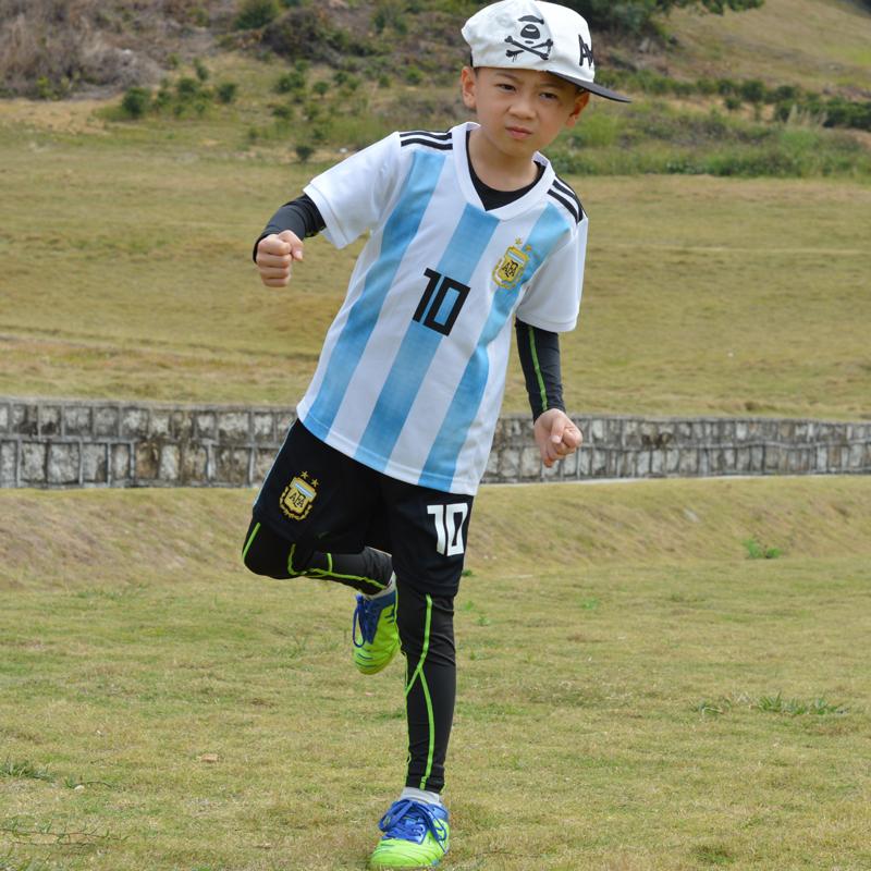 529d26e7a Men and women baby soccer jersey Argentina Messi No. 10 children s soccer  suit set Portugal C Luo No. 7 Neymar
