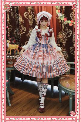 taobao agent Infanta. Lolita original print*Strawberry buffet*JSK dress