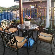Outdoor cast aluminum tables and chairs European courtyard leisure tables and chairs combination iron and table
