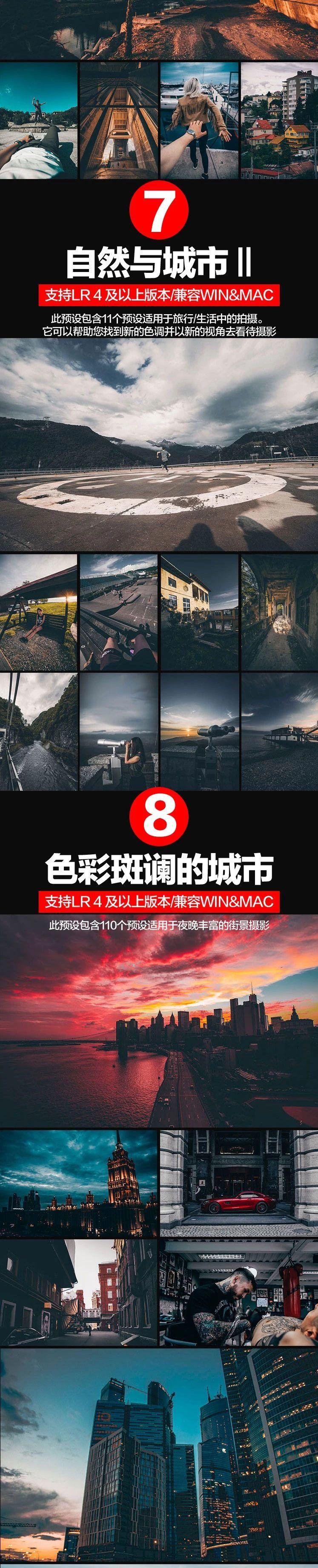 16套INS网红城市黑金胶片风格调色LR预设 轻松调出炫酷大片范插图(3)