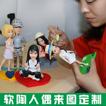 DIY Clay clay sculpture wax soft Taoren doll personality Gifts
