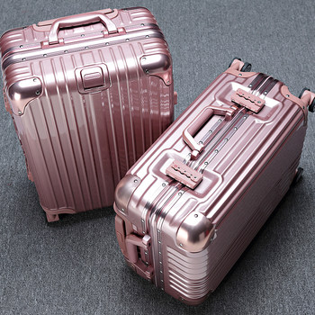 Trolley case aluminum frame universal wheel cipher box 28/24/20/26 inch boarding case travel luggage luggage