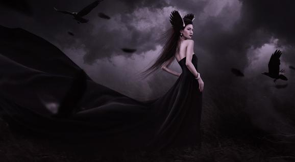 [创意合成]-暗黑魔女制作
