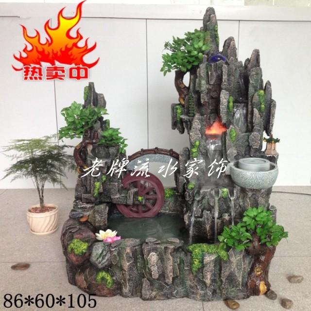 创意风水轮5CM石磨树脂陶瓷鱼缸假山流水喷泉摆件配件厂家直销