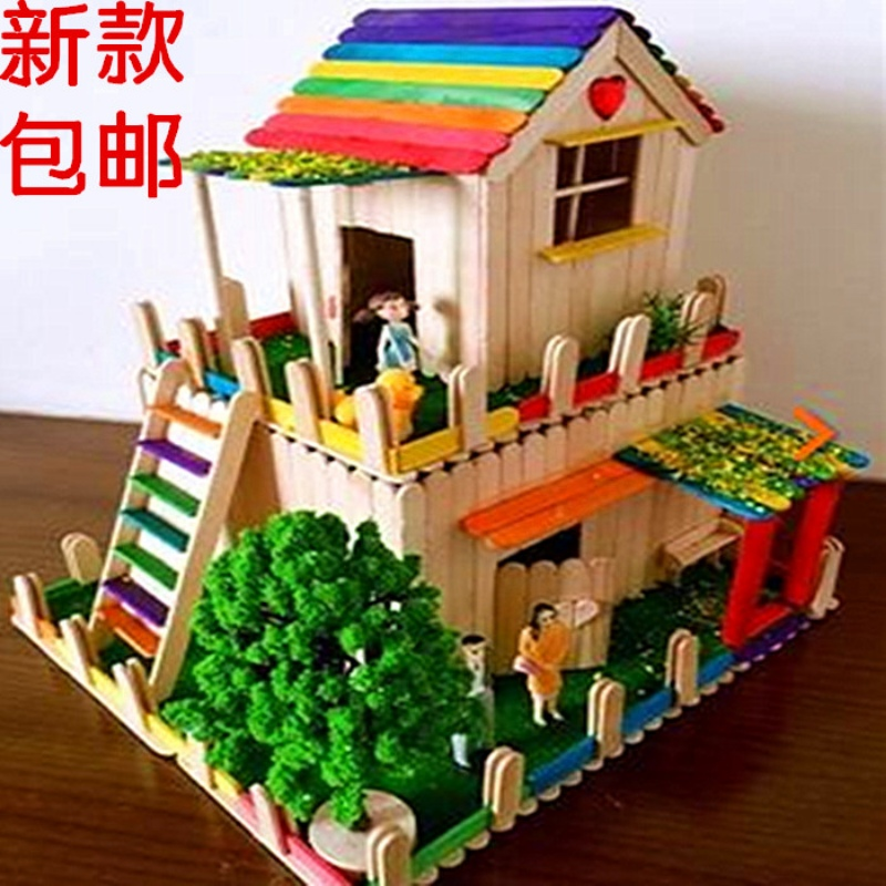 Ice Cream Stick Wooden Stick Diy Handmade House Model Material