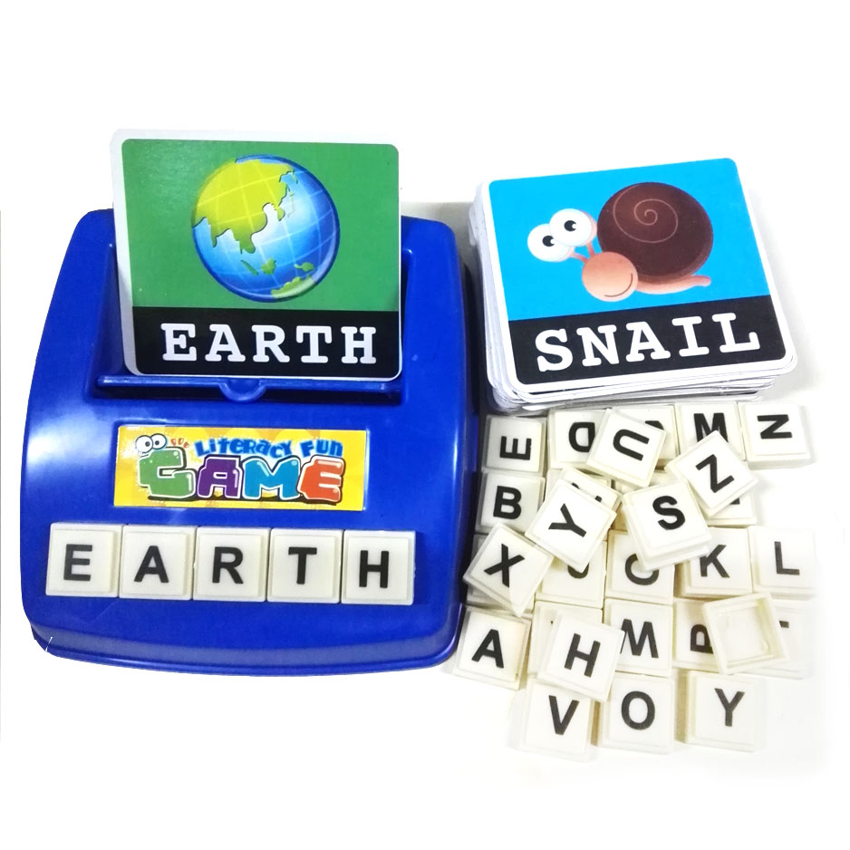 3-8 years old children early education educational toys happy fun English  learning Apple spell
