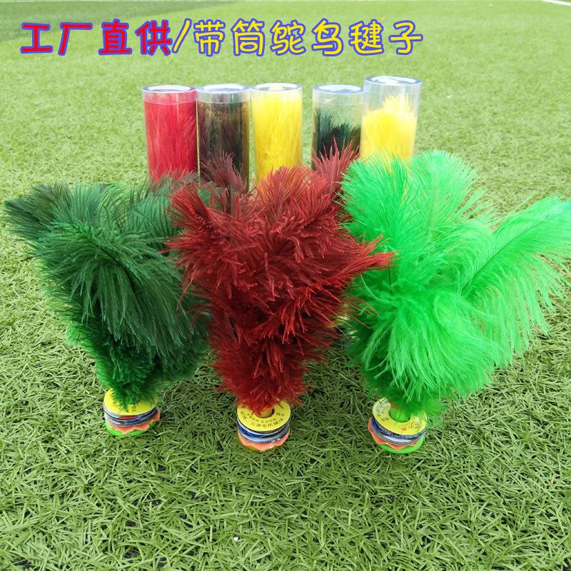 Hàng hóa tốt và đá cầu đà điểu bền bỉ với ống đóng gói tốt - Các môn thể thao cầu lông / Diabolo / dân gian