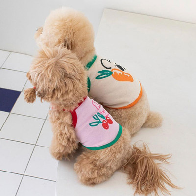 95 cotton sling dog summer thin cat Chenery pet Bomei bear teddy clothes small dog spring and Autumn