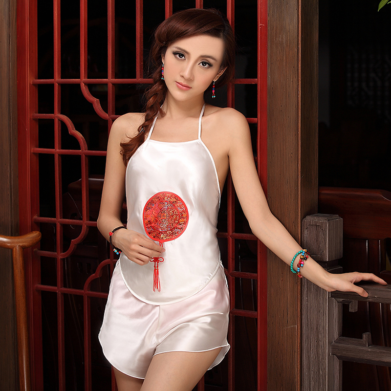 f471c918dced ... Yijia Chinese style ladies pajamas suit fashion underwear national classical  sexy apron dudou* Chinese knot