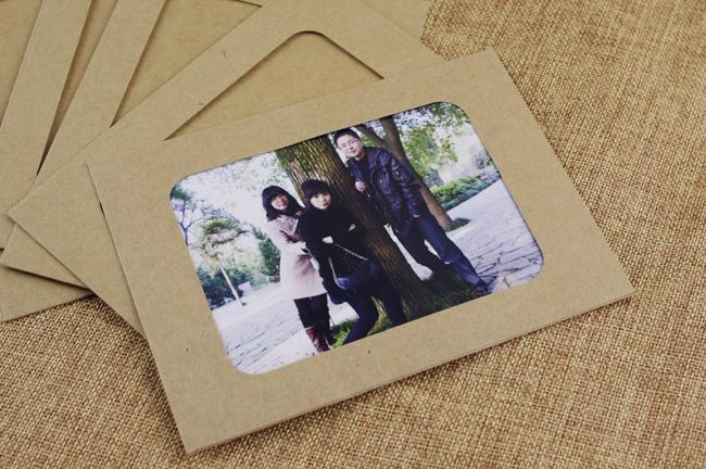 用卡纸装饰照片_6寸DIY手工卡纸简约相框 装饰艺术复古像框 照片墙 创意礼物-「 ...