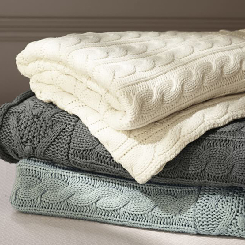 纯棉盖毯针织毯毛毯毛线毯子沙发毯办公室午睡毯毛巾被空调毯秋冬_领取5元淘宝优惠券