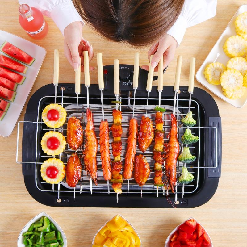 电烧烤炉家用电烤炉网红无烟烧烤室内烧烤炉架烤串烤肉炉小型环保