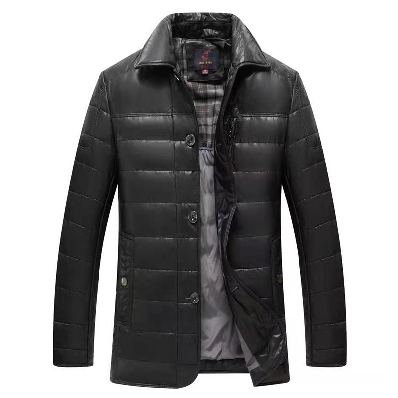 楠溪王2020冬季新款男士皮羽绒服加厚保暖帅气男士外套89.0