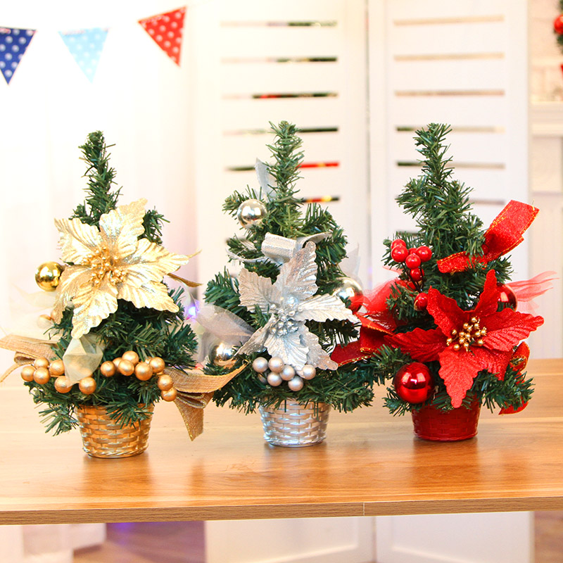 christmas decorations 20cm 30cm 40cm christmas tree mini christmas tree package desktop countertops trees