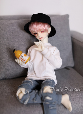 taobao agent 1/6 points 4 points 3 points Uncle BJD.MDD baby clothes jacket coat loose pockets boyfriend Lida T-shirt sweater