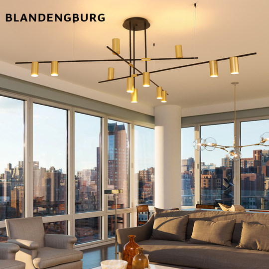 Nordic branch living room chandelier coffee shop post-modern minimalist creative personality showroom restaurant designer lamps
