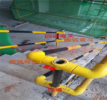 Construction Border Protection temporary stairs handrails PPR iron products stairs