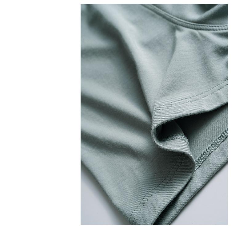 男士莫代尔四角内裤四角裤纯色透气薄款弹力无痕舒适短裤详细照片