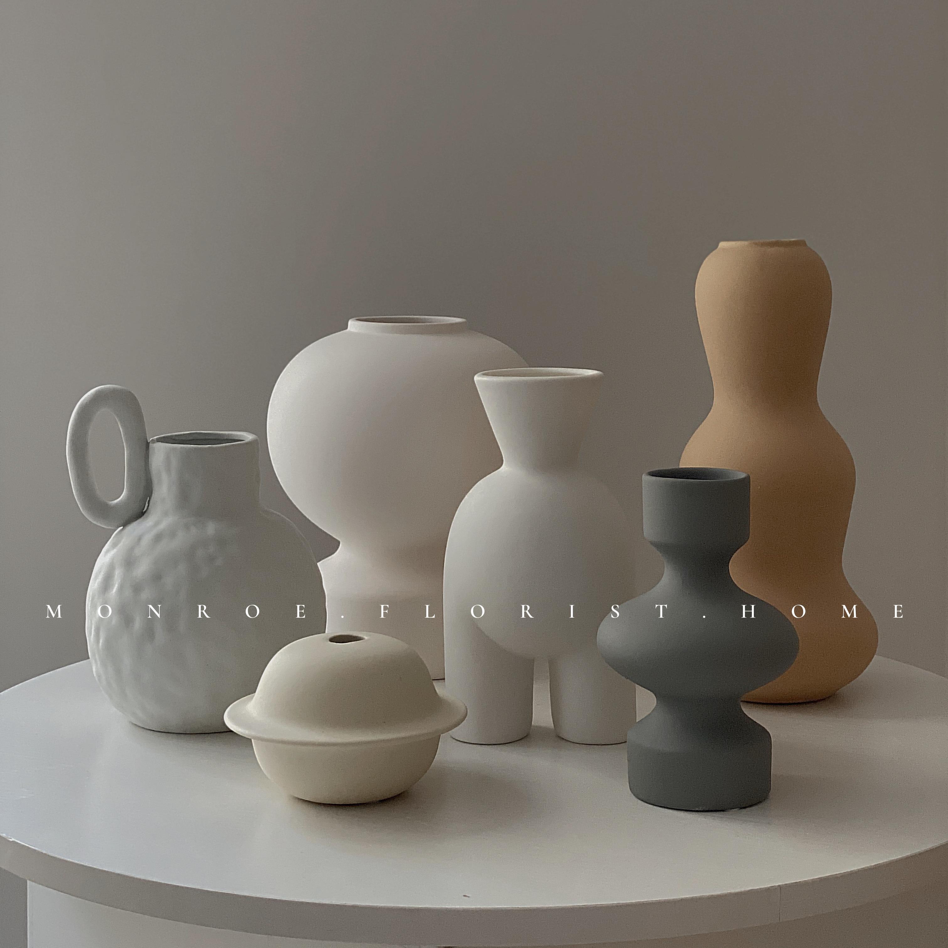 【MONROE 梦鹿工作室】家居装饰陶瓷花瓶北欧客厅卧室餐厅设计师