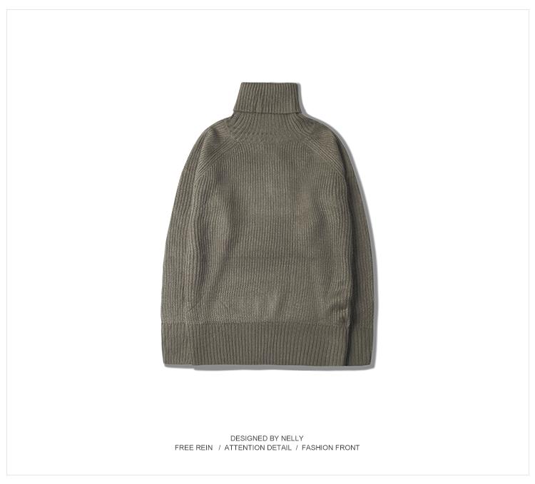 Cao cổ áo len nam dày mùa đông ấm áo len dài tay Hàn Quốc phiên bản của xu hướng của cá tính áo len Mỏng áo sơ mi