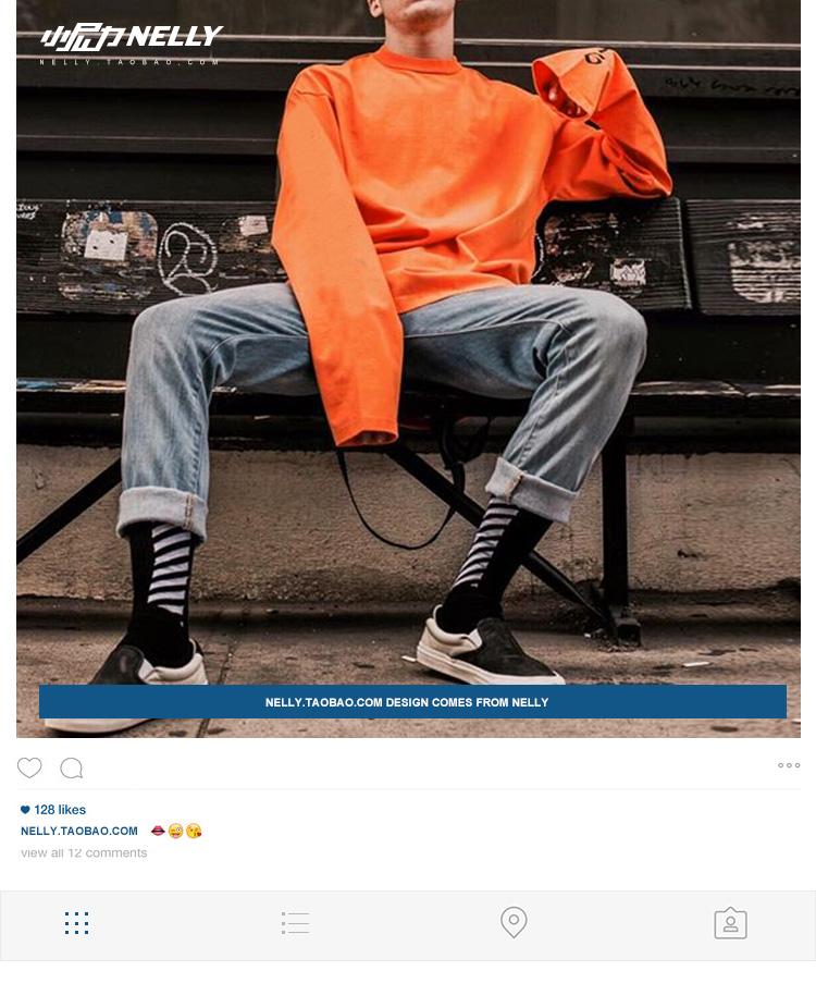 Của nam giới cao đường phố 2018 mùa thu mới in ấn vòng cổ bông lỏng dài tay t-shirt nam thanh niên xu hướng T nam giới và phụ nữ áo thun nam đẹp