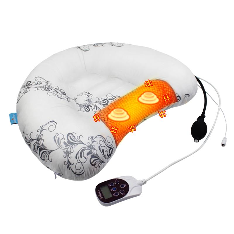 若飞颈椎枕头修复专用充气护颈枕劲椎加热电动按摩中药枕矫正成人