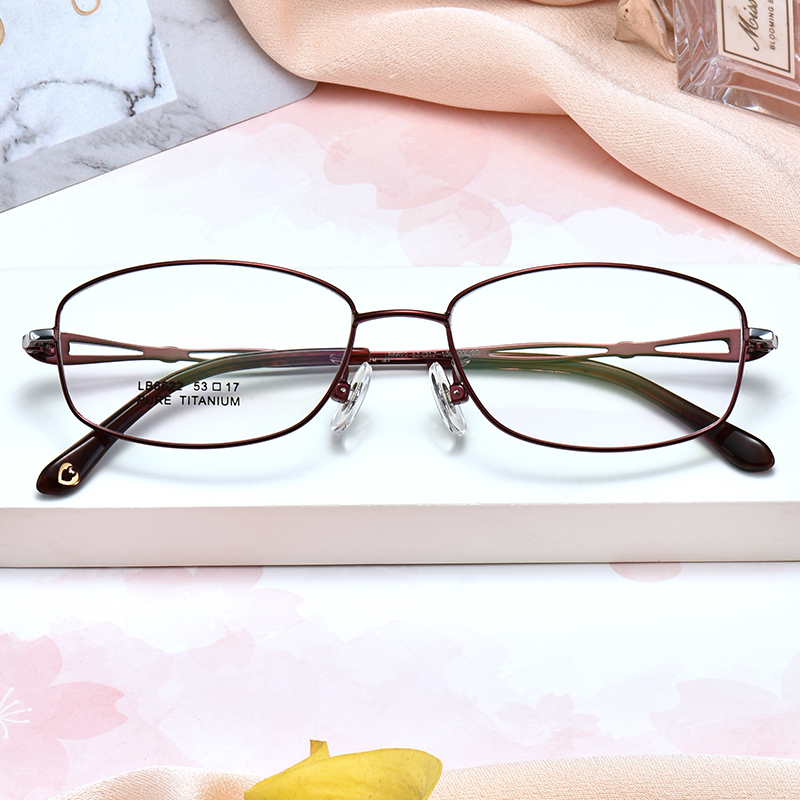 Myopia glasses full face large round face ultra light with color ...
