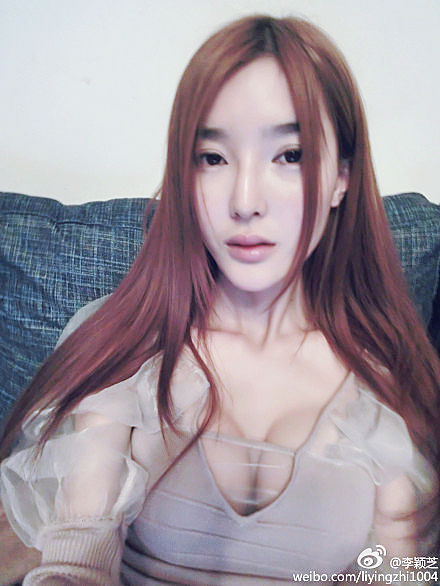 韩国代购正品李颖芝同款性感大泡泡袖针织包身女神露胸连衣礼服裙