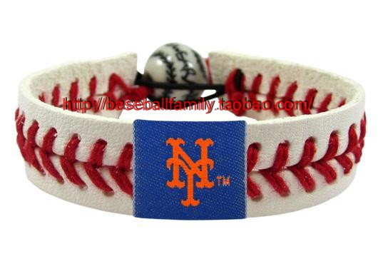 Mlb Leather Football Baseball Fan Bracelet Bangle Seam Yankee