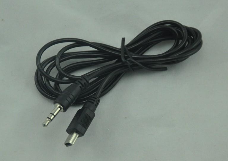 雷柏H3050/H3070/U602/U305无线/蓝牙耳机音频线MINIUSB转3.5