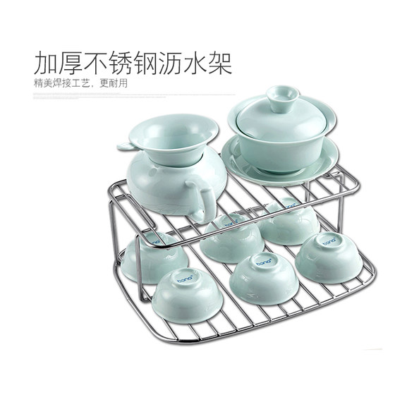 Handa Home Tea Set Disinfection Cabinet Small Teacup Box Cup Drainage Storage Rack Cup Cabinet Office