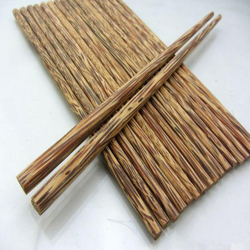 Vietnam Penang high temperature coconut tree chopsticks Coconut chopsticks solid wood chopsticks natural coconut chopsticks 10 pairs