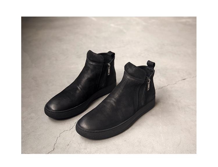 冬季 真皮复古马丁靴 做旧  男士皮靴潮工装靴    8533-P255