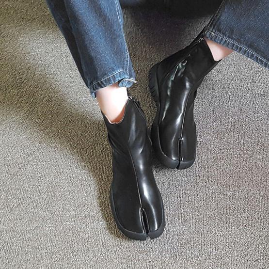 2020韩国东单鞋韩版女秋冬分脚趾靴大门靴忍者靴平底靴子猪蹄新款