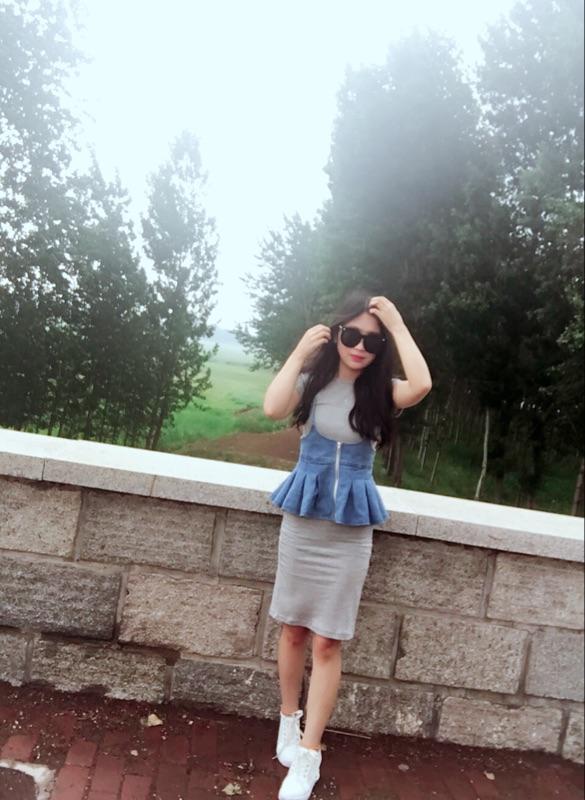 6度欧美2016夏装韩国新款牛仔马甲长裙两件套连衣裙中长款套装女