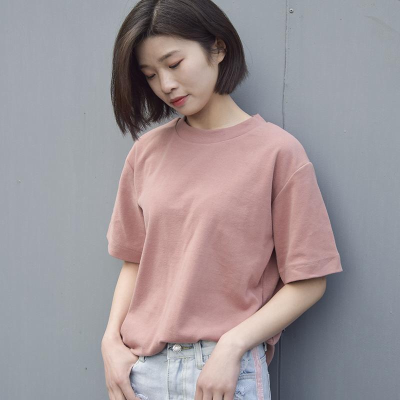 ins超火的纯色短袖t恤女夏季优惠5元包邮