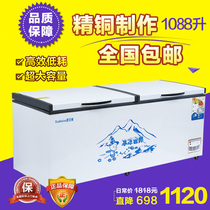 Commercial large freezer horizontal freezer freezer large capacity refrigerated freezer